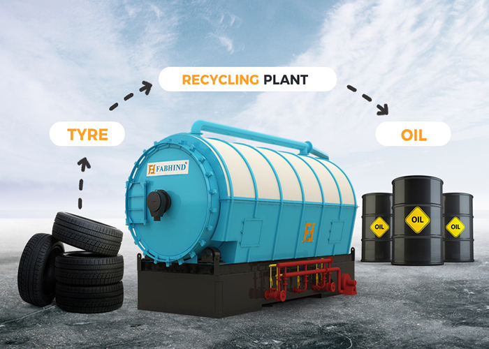 continuous waste tyre recycling plant
